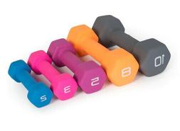 2#, 3#, 5#, 8#, OR 10# CAP HEX NEOPRENE DUMBBELLS / WEIGHTS!