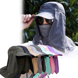 360°Outdoor UV Protection Ear Flap Neck Cover Sun Hat Cap F