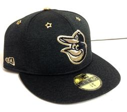 $38 FITTED 73/8 New Era BALTIMORE ORIOLES GOLD SHIMMER HAT A
