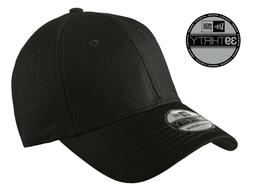 New Era 39Thirty Blank Stretch Cotton fitted Black Hat/Cap N