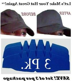 3Pk. Caps Crown Inserts  Fitted Cap Support  Hat Liner Shape