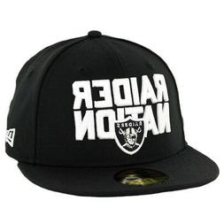 "New Era 5950 Oakland Raiders ""Raider Nation"" Fitted Hat  Men"