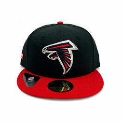 New Era 59FIFTY Atlanta Falcons Fitted Hat Black Red NFL Cap
