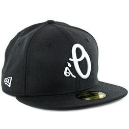 """New Era 59Fifty Baltimore Orioles """"BK WH"""" Fitted Hat  Men's"""