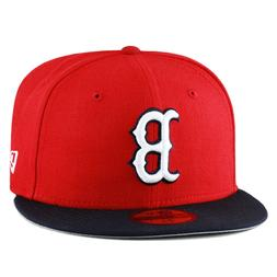 """New Era 59fifty Boston Red Sox Fitted Hat Red/Navy/White """"B"""""""