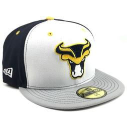 New Era 59FIFTY Bulls Navy Blue White Grey True Fitted 7 3/8