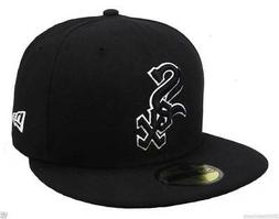 New Era 59Fifty Cap Chicago White Sox Mens Adult Black White