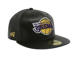 New Era 59Fifty Cap NBA Los Angeles Lakers Mens Black Faux L