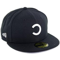"""New Era 59Fifty """"Chicago Cubs BK WH Fitted"""" Hat  Men's MLB C"""