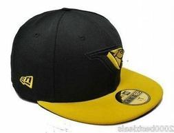 New Era 59Fifty Hat MLB Mens Toronto Blue Jays Black Yellow