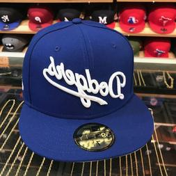 """New Era 59Fifty LA Dodgers Fitted Hat All Royal Blue/White """""""