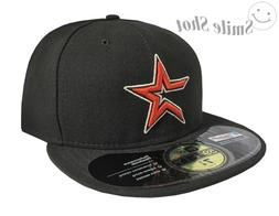 New Era 59Fifty MLB Houston Astros Fitted Cap Hat Black Flat