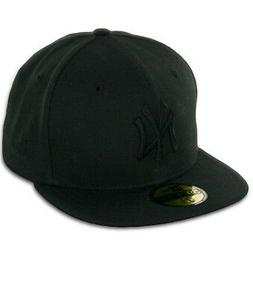 """New Era 59Fifty New York NY Yankees """"Blackout"""" Fitted Hat  M"""