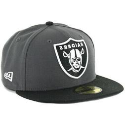 New Era 59Fifty Oakland Raiders Fitted Hat  NFL Men's Cap