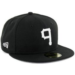"New Era 59Fifty Pittsburgh Pirates ""BK WH"" Fitted Hat  Mens"