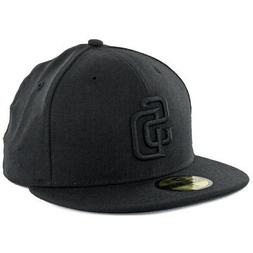 New Era 59Fifty San Diego SD Padres Blackout Fitted Hat  Men