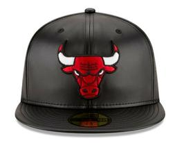 New Era 59FIFTY Team Simulated Leather Fitted Hat Black-Red