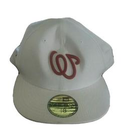 New era 59fifty Washington Nationals Fitted Hat Size 8.25  w