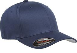 6277 Flexfit Wooly Combed Twill Cap,Navy,Adult XXL