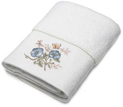 Lenox Butterfly Meadow Embroidered Hand Towel, Blue Flower