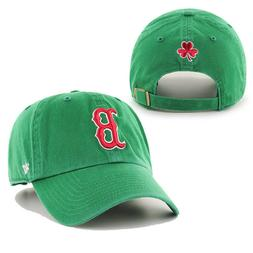 Red Sox 47 Brand Green Clean Up Relaxed Fit Cotton Strapback