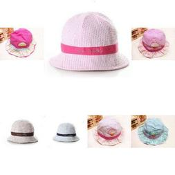 Adjustable Chin Strap Sun Bucket Hat For Newborn Boys Girls