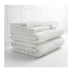 IKEA AFJARDEN WHITE THICK BATH TOWELS assorted sizes 100% co
