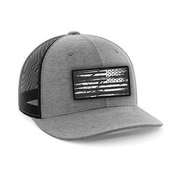Tactical Pro Supply American Flag Heather Gray Flexfit Hat