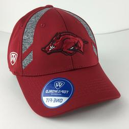 Arkansas Razorbacks Cap Logo Grey Panels One Fit Stretch Hat