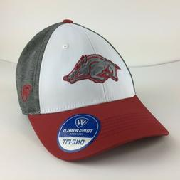 Arkansas Razorbacks Cap Logo White Panel One Fit Stretch Hat