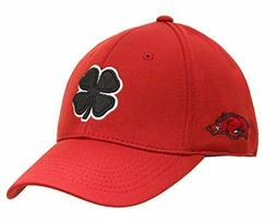 "Arkansas Razorbacks Black Clover ""Live Lucky"" Fitted Cap Hat"