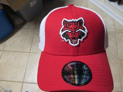 ARKANSAS STATE  NEW ERA 3930 FLEX FIT HAT  NWT $25 RED & WHI