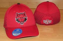 arkansas state red wolves fade flex fitted