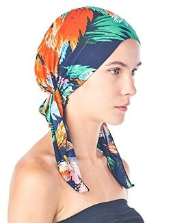 Ashford & Brooks Women's Pretied Printed Fitted Headscarf Ch