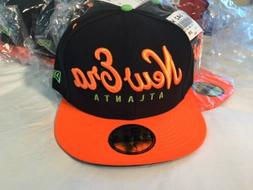 ATLANTA ATL New Era 59FIFTY Originals Script Black orange Fi