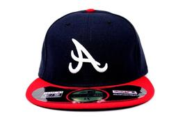 Atlanta Braves Navy Blue Scarlet NE Tech On-Field MLB New Er