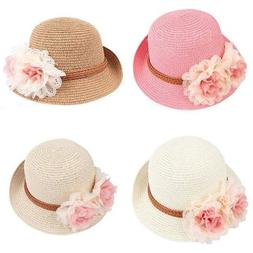 BRAND NEW WHITE Fitted Beach Toddlers Sun Hats For Kids Girl