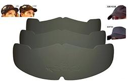 3Pk. Black Manta Ray Baseball Caps Crown Inserts for Low Pro