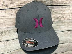 Hurley Black Suits 2.0 Flexfit Hat Gray Red MHA0006540 Stret