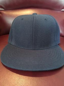 Top of the World Blank High Crown Fitted Navy Cap Hat Brand