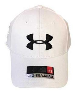 Under Armour Blitzing Hat Mens Fitted Cap White Size S/M