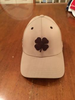 Black Clover Brand Live Lucky Beige Golf Hat Cap NEW L/XL w/