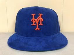Brand New New Era Size 7 7/8 New York Mets Fitted Hat BLUE/O
