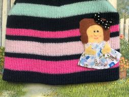 brand new toddler knit cute striped girl