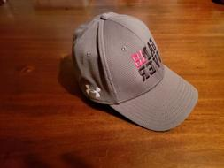 Under Armour Branded Baseball Cap fitted Hat Grey L/XL New