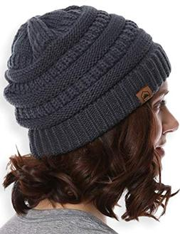 cable knit beanie thick soft and warm
