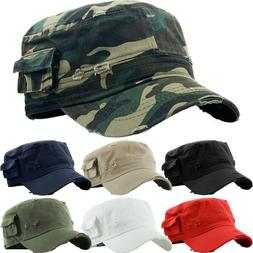 CADET FITTED Caps Army Military Hats Cotton New All Sizes Co