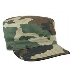 camouflage cap woodland hat fitted back patrol