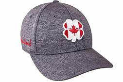 Black Clover Canada Flag Heather Fitted Hat