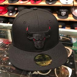 New Era Chicago Bulls Fitted Hat Black/Red Eye/REGULAR LOGO